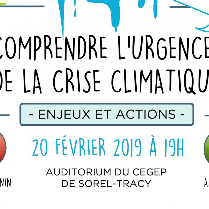 Conference CriseClimatique Sorel tracy et cie